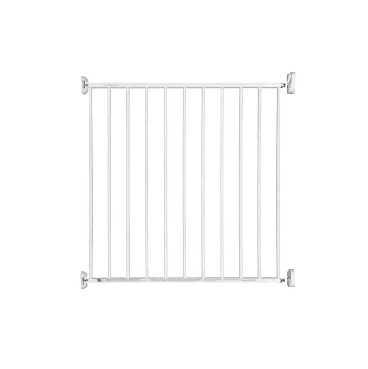 mothercare white metal wall fix gate