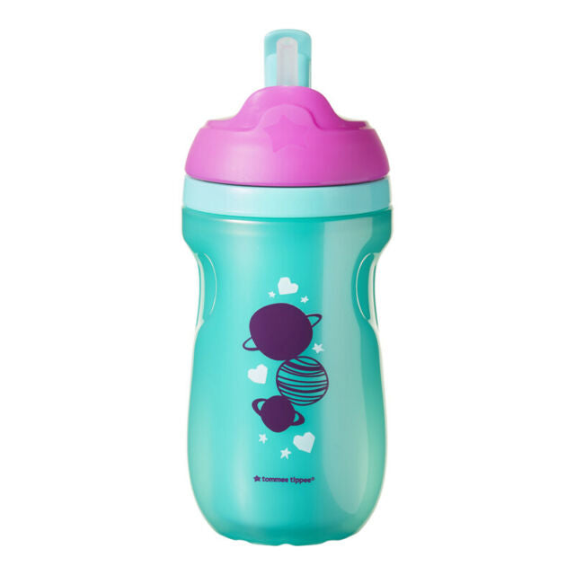 tommee tippie straw cup 12m+ space purple