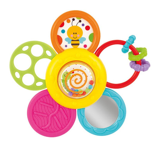 winfun - daisy spin rattle n teether