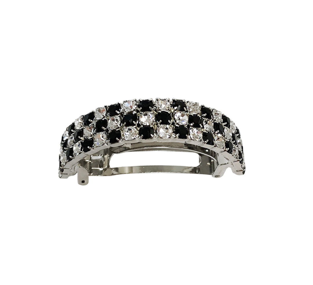 BLACK & WHITE CHECK PONY CUFF