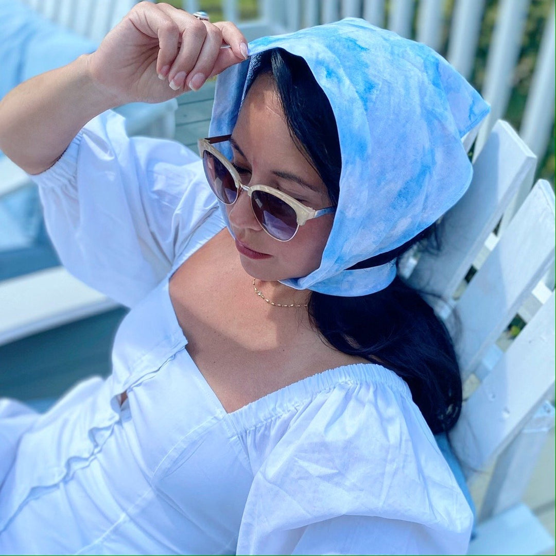 SKY COTTON VALLEY HEADSCARF