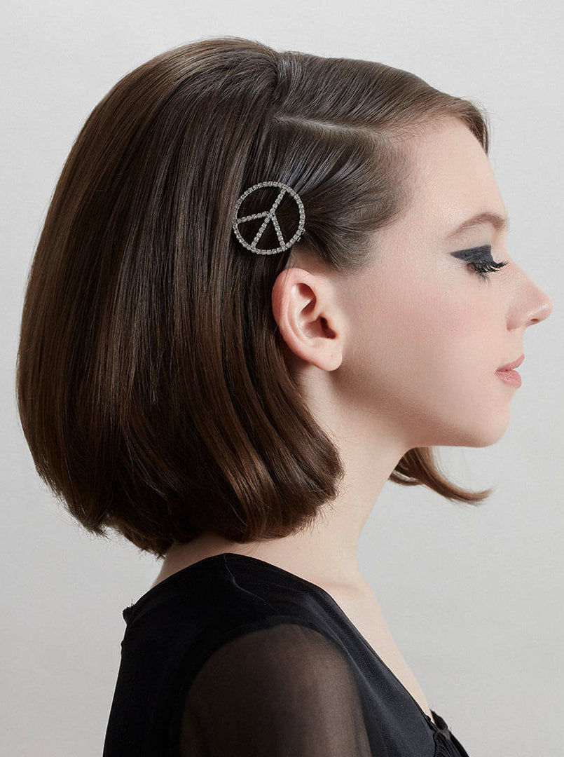 LE PEACE SIGN BARRETTE