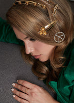 Load image into Gallery viewer, LE PEACE SIGN BARRETTE