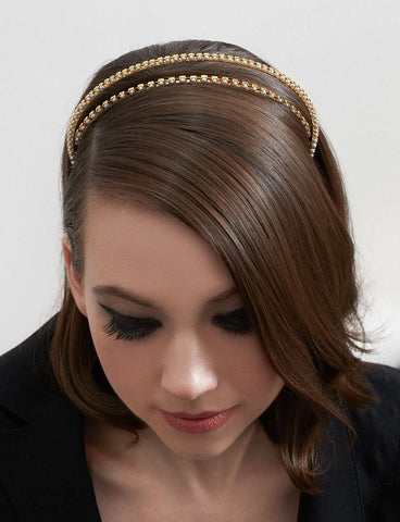 THE BOLEYN STACKED PEARL HEADBAND