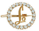 Load image into Gallery viewer, SWAROVSKI CIRCLE INITIAL BARRETTE