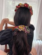 Load image into Gallery viewer, LARGE BLOSSOM SCRUNCHIE IN BAROQUE