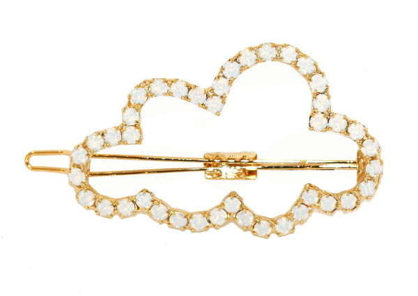 WHITE OPAL CLOUD BARRETTE