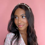 Load image into Gallery viewer, PEARL & CRYSTAL COPA HEADBAND