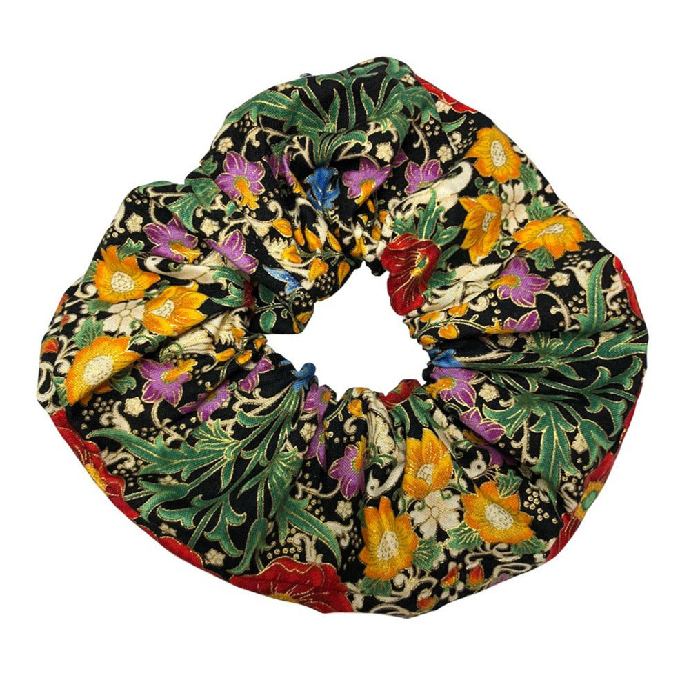 LARGE BLOSSOM SCRUNCHIE IN BAROQUE