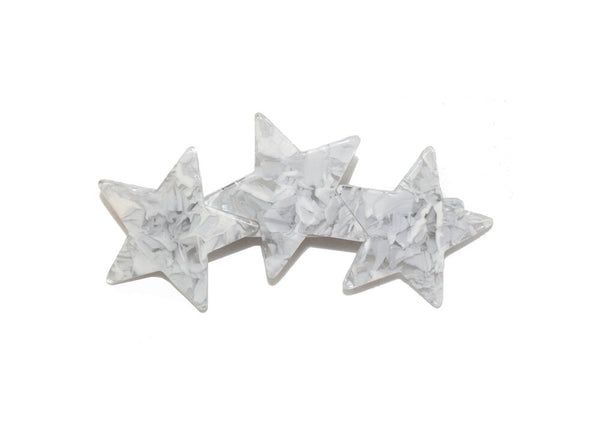 MARBELIZED STAR BARRETTE