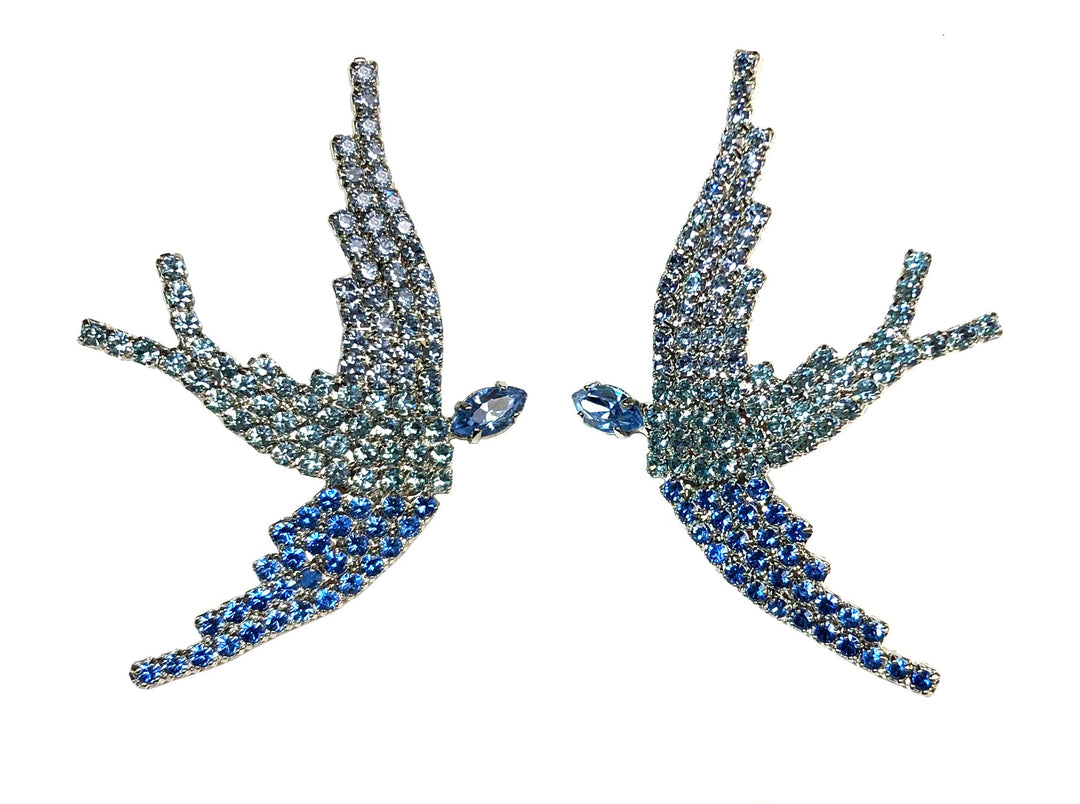SWAROVSKI PHOENIX EARRINGS IN BLUE OMBRE