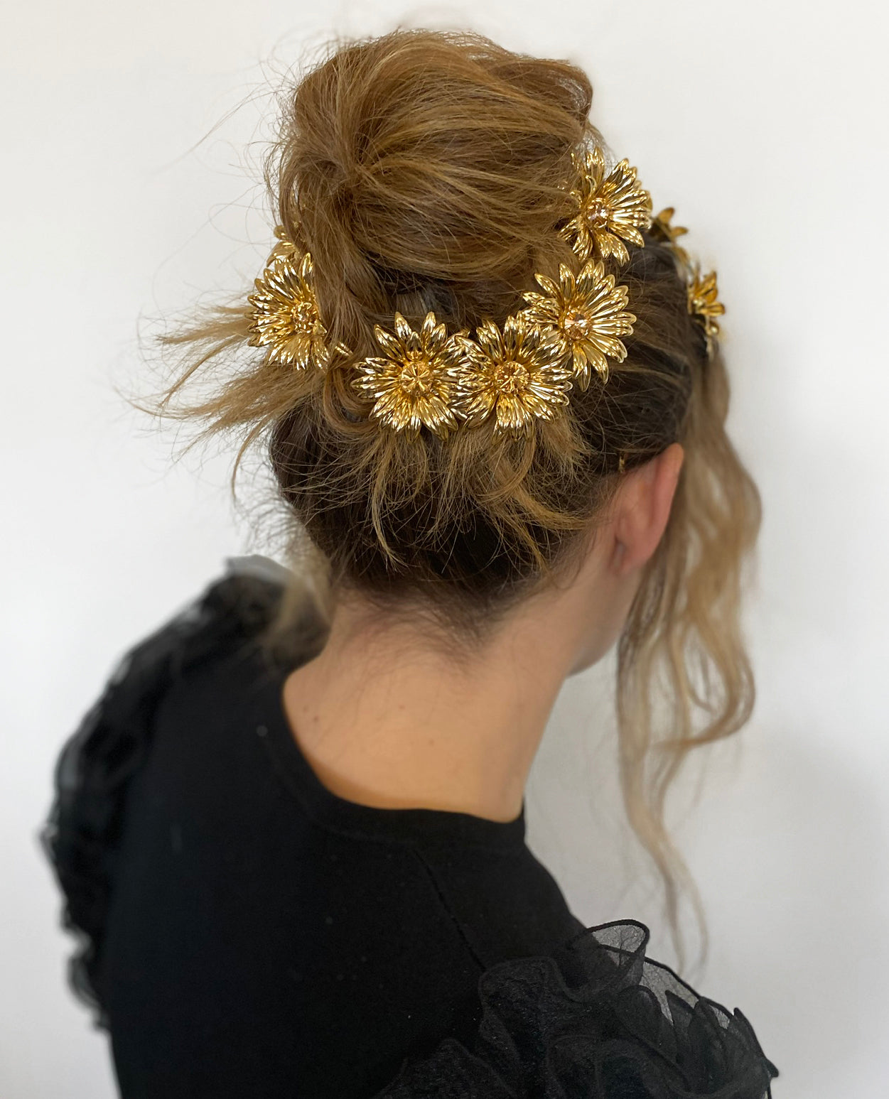 THE SUNFLOWER BARRETTE