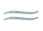 Load image into Gallery viewer, CRYSTAL WAVY BOBBIES IN OPAL (SET OF TWO)