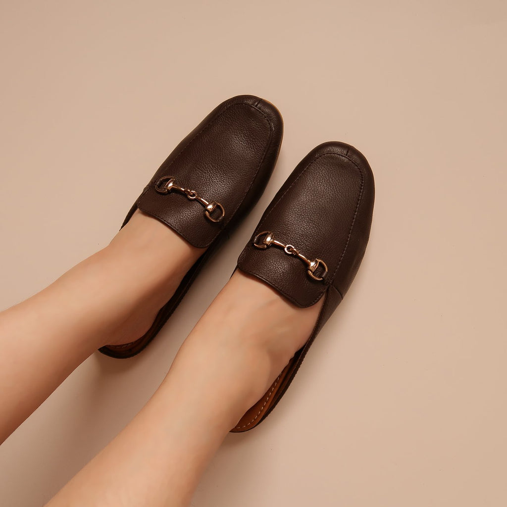 Celeste in Walnut - Mules - Rob and Mara
