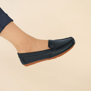 Devon in Navy Blue - Moccasins - Rob and Mara