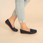 Load image into Gallery viewer, Devon in Navy Blue - Moccasins - Rob and Mara