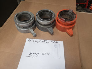 "USED: 4"" Storz adapters & appliances"