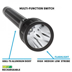 Metal Full-Size Dual-Light™ Rechargeable Flashlight (650 lumens)