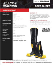 Load image into Gallery viewer, Black Diamond 699-9203, 3/4 Rubber hip boot.