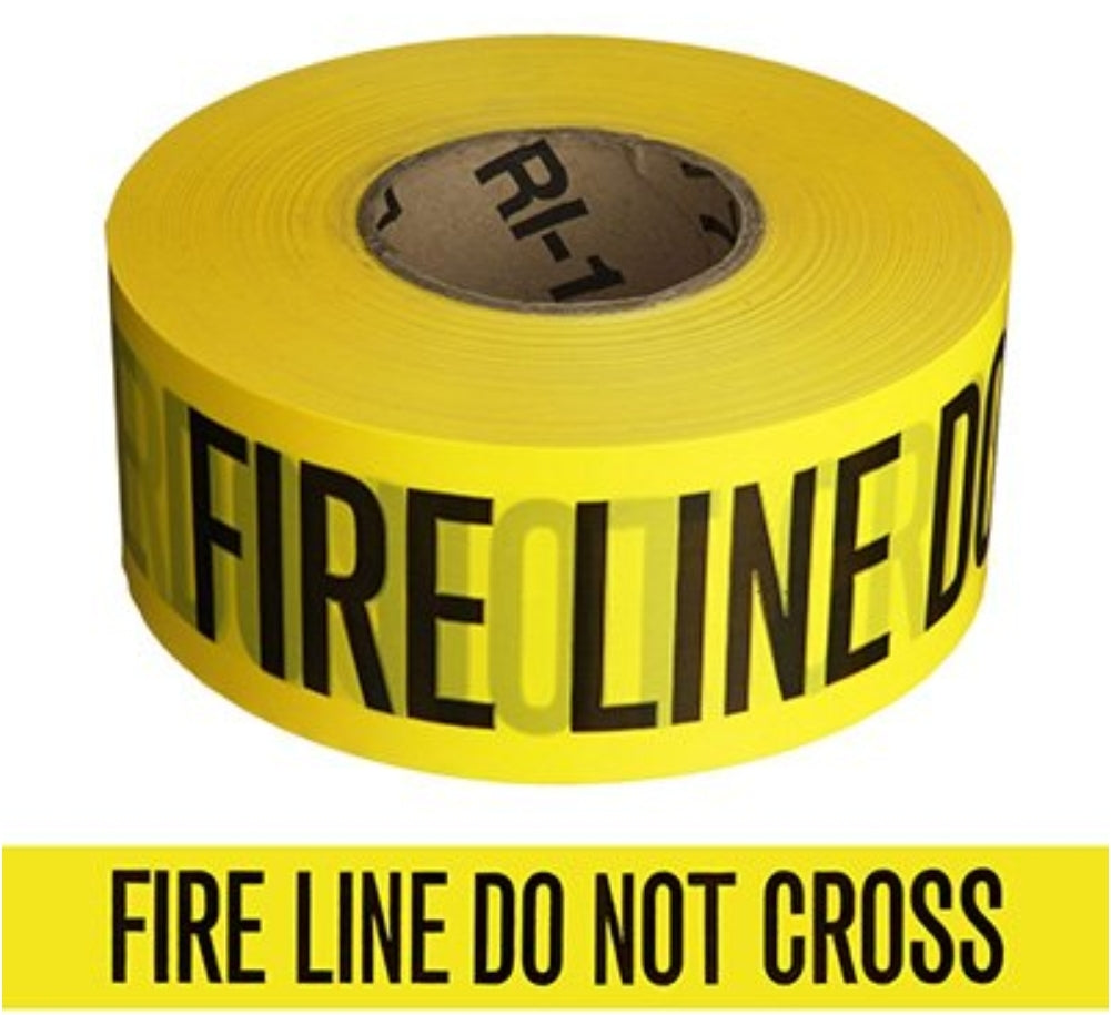 Barricade tape. Police & Fire line tape