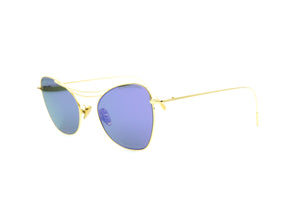 Cutler and Gross 1307 Sun GPL-03 Gold/ Cobalt Mirror