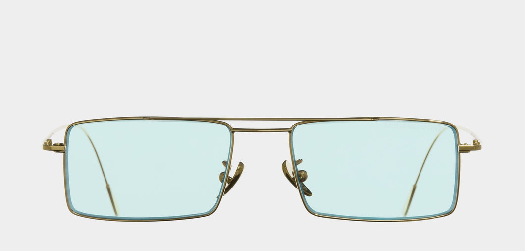 Cutler and Gross 1308 Sun GPL-04 Gold/ Pale Light Blue