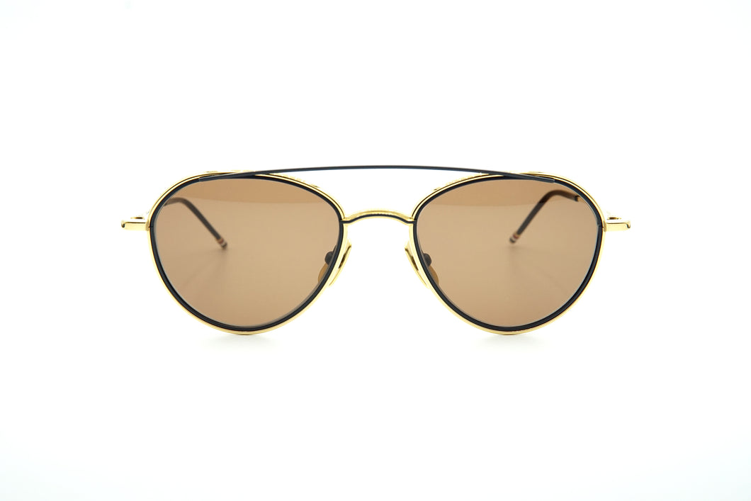 Thom Browne TB 109 Sun Yellow Gold/Matte Navy