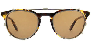 Garrett Leight Milwood Clip 46 Brushed Silver/Brown