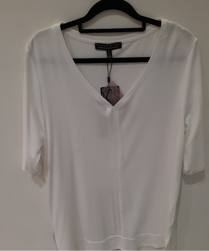 PAULA RYAN V NECK HALF SLEEVE TOP