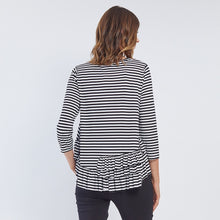 Load image into Gallery viewer, STRIPE RUFFLE HEM TOP