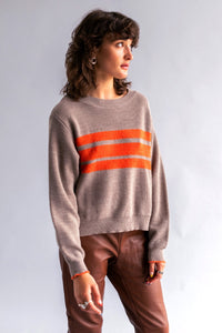CROP FUZZ STRIPE MERI JUMPER