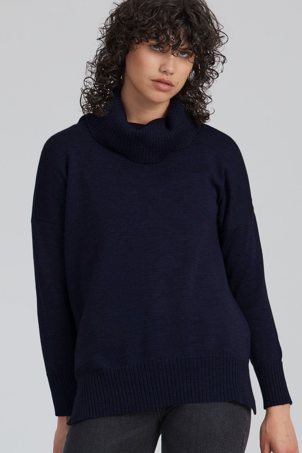 CROP FUNNEL NECK JUMPER