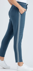THREADZ KNEE DETAIL TRACK PANT
