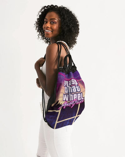 Night Ride Canvas Drawstring Bag - V. H. Hess