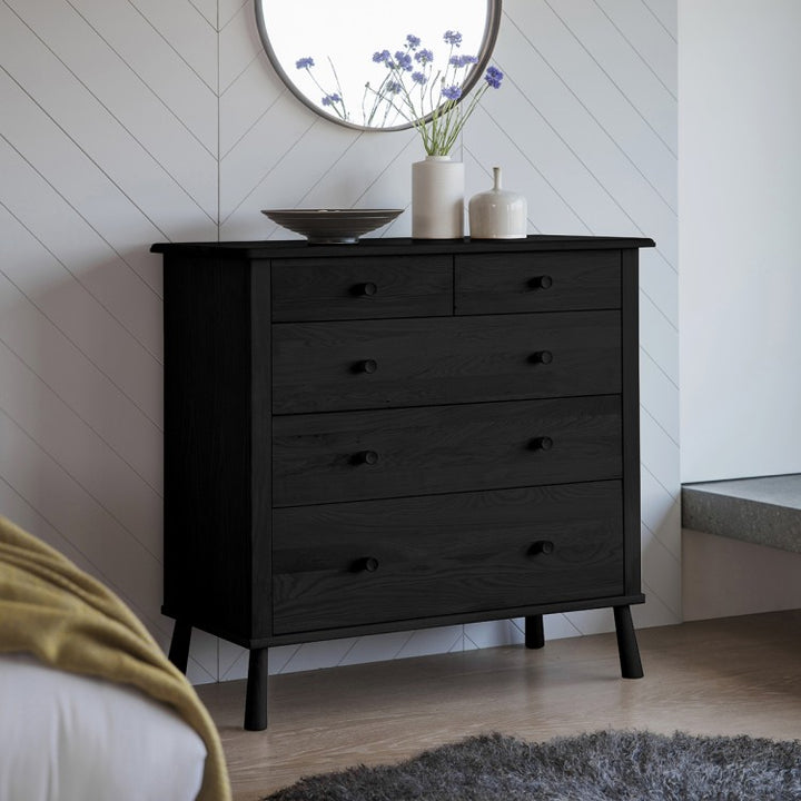 Drawers Oak Nordic Style (Black)