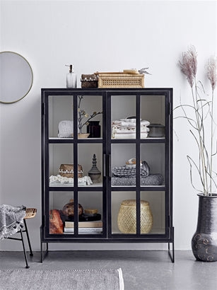 Black Glass Cabinet