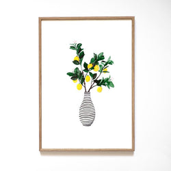 A4 Art Print - Lemon Vase