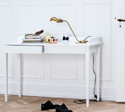 Scandi White Console Table/Dressing Table/Desk