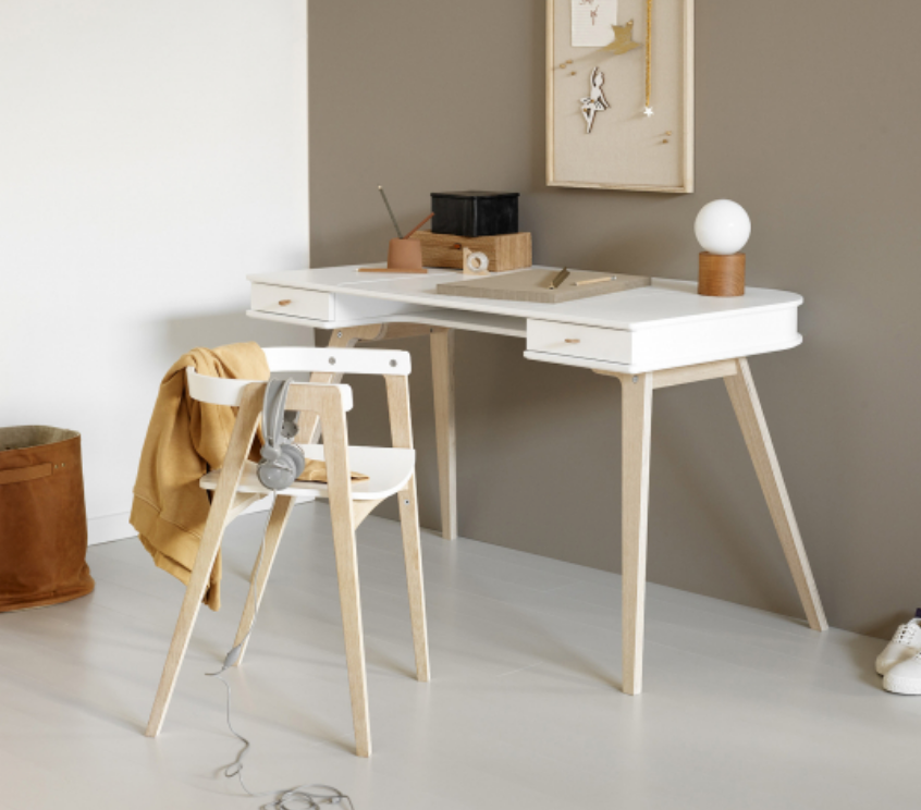 White and Oak Desk