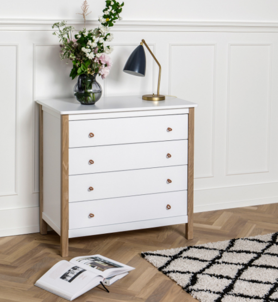 Drawers White And Oak