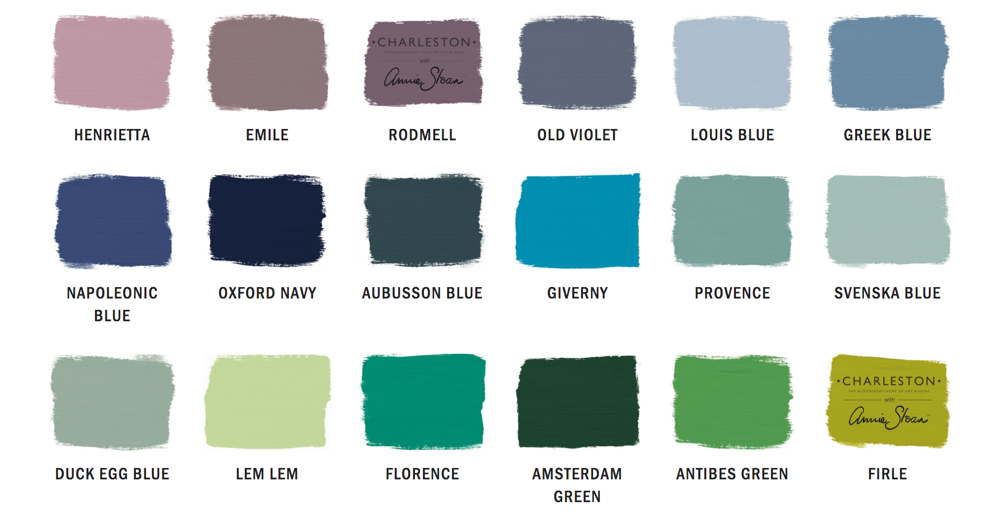 Annie Sloan Chalk Paint (1 litre) colours available here