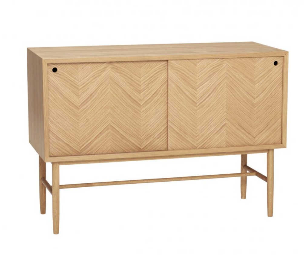 Oak Dresser With Chevron Detail (slight damage)