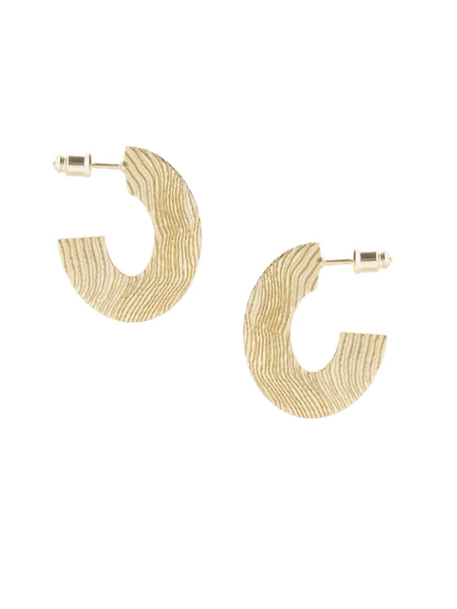 Wild Oval Earrings Gold