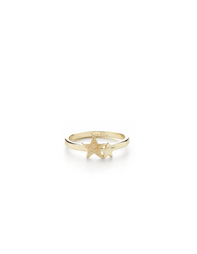 Double Star Ring Gold