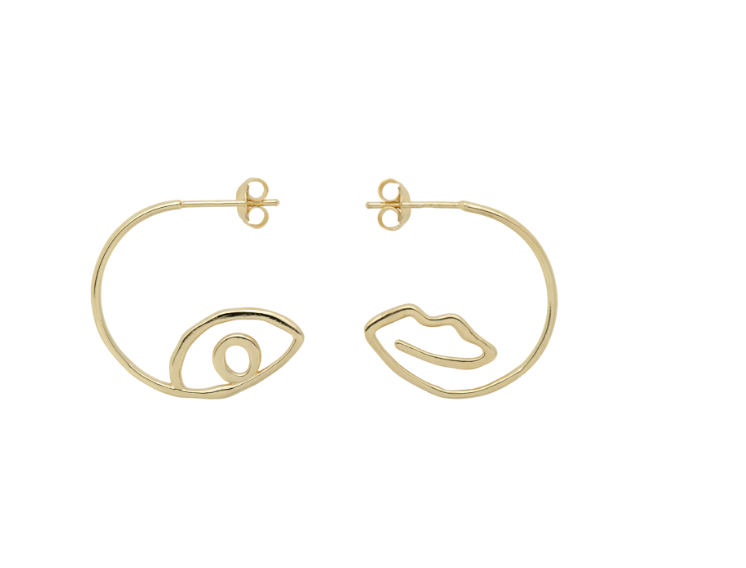 Surreal Hoop Earrings