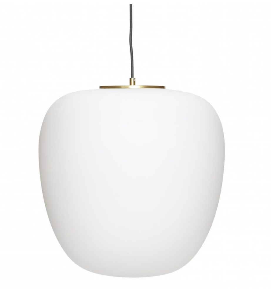 White and Brass Hanging Light