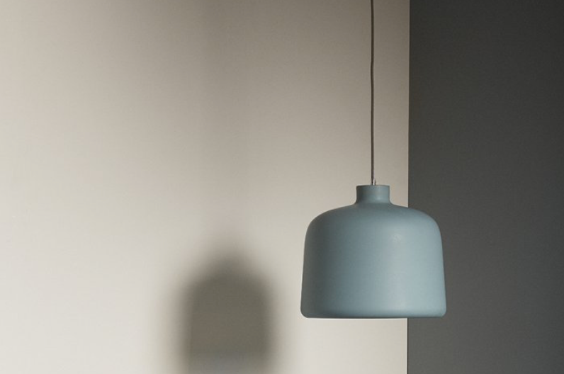 Dusty Blue Hanging Light