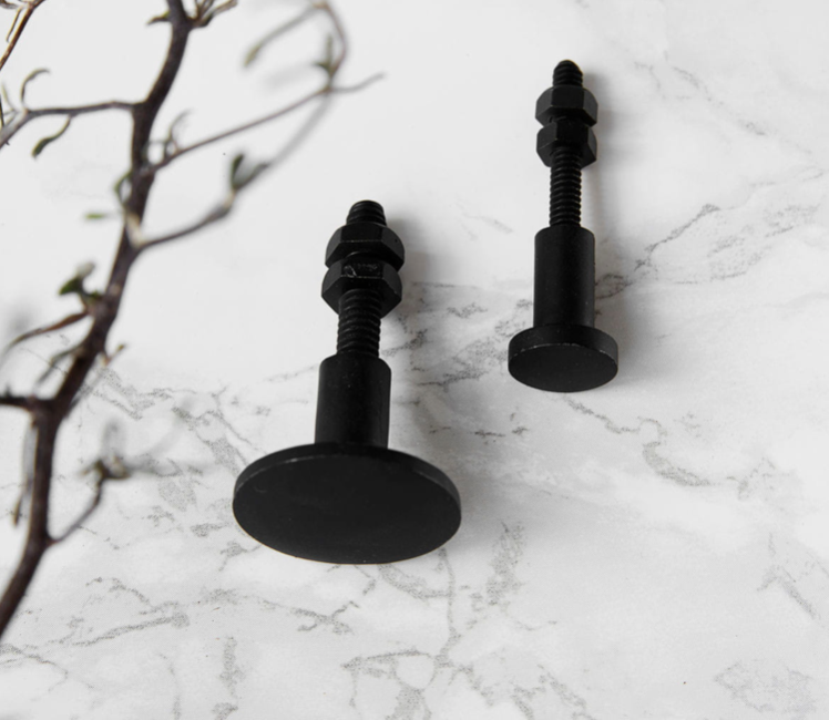 Black Decor Knobs (2 sizes) sold in pairs