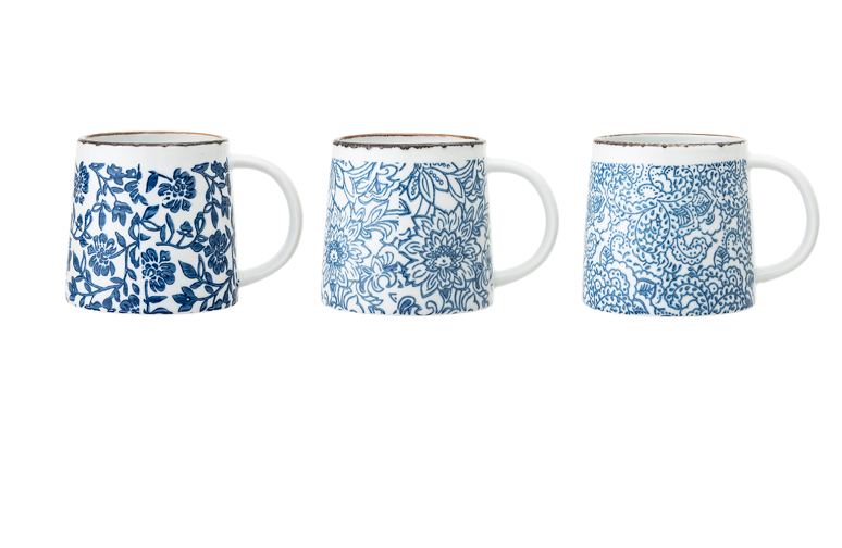 Handcrafted Mugs Blue