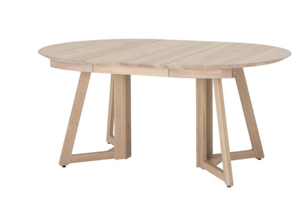 Round/Oval Oak Extending Dining Table
